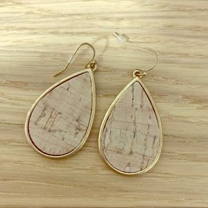 Earrings, cork, dangling